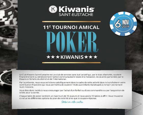 11ème tournoi amical POKER Kiwanis